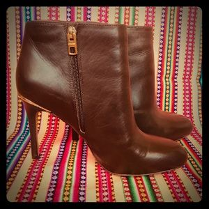 NIB Coach Nila Ankle Boots - Saddle Brown - Size 9